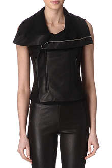 RICK OWENS Leather gilet