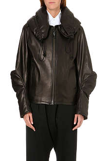 YOHJI YAMAMOTO Overized leather jacket
