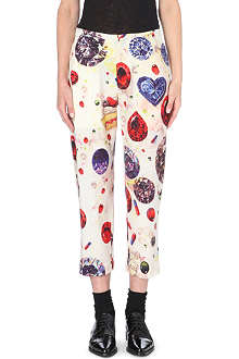 YOHJI YAMAMOTO Jewel-print tapered wool trousers