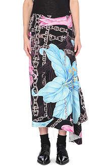 YOHJI YAMAMOTO Floral-print wool skirt