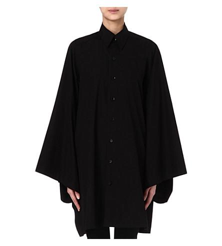 YOHJI YAMAMOTO Oversized shirt dress (Black