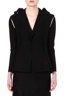 YOHJI YAMAMOTO Cotton blazer with removable sleeves