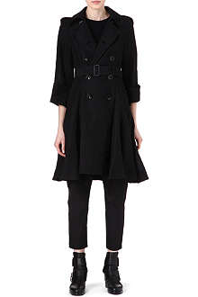 YOHJI YAMAMOTO Pleated skirt detail trench coat