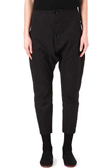 YOHJI YAMAMOTO Drop crotch button-fly trousers