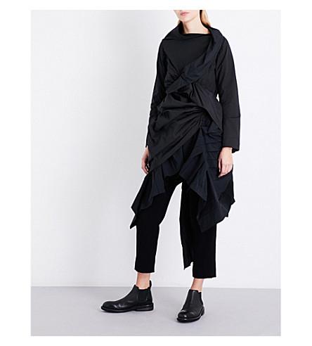 YOHJI YAMAMOTO Gathered woven top (Black
