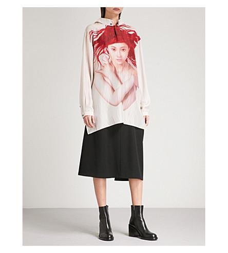 YOHJI YAMAMOTO Oversized silk shirt (Red