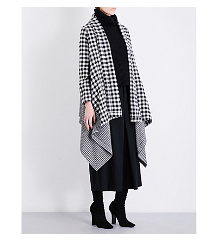 LIMI FEU Houndstooth wool-blend coat (White