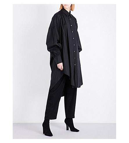 LIMI FEU Oversized cotton-twill shirt dress (Black