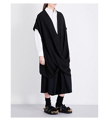 LIMI FEU Twist twill shirt dress (Black