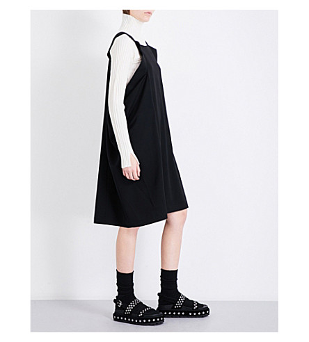 LIMI FEU Oversized wool-twill mini dress (Black
