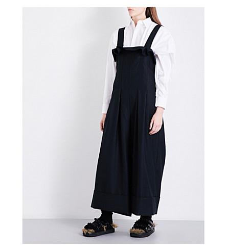 LIMI FEU Wide-leg wool-twill jumpsuit (Black