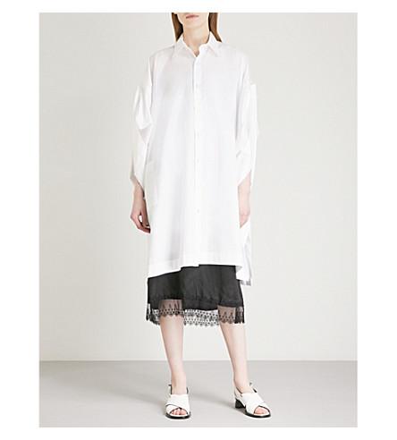 LIMI FEU Oversized cotton-poplin shirt (White