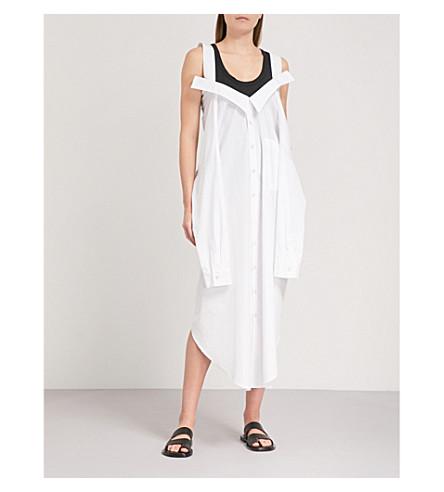LIMI FEU Off-the-shoulder cotton-poplin dress (White