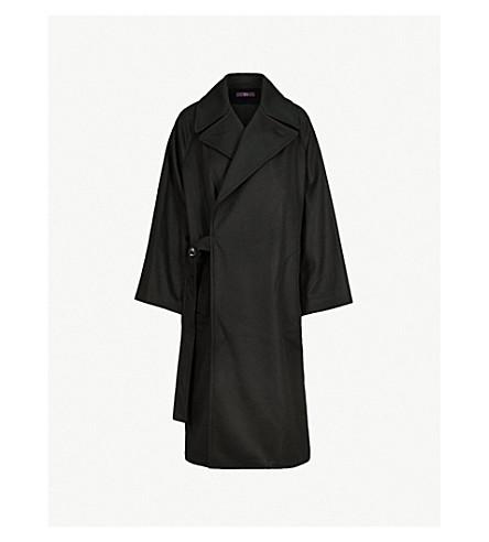 超大羊毛大衣 (黑色