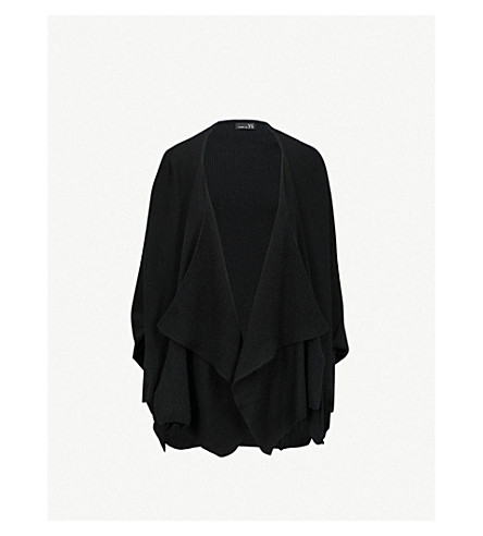 YS Waterfall knitted cardigan (Black