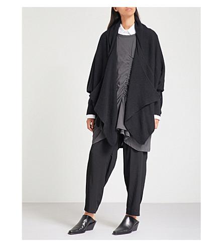 YS Waterfall knitted cardigan (Black