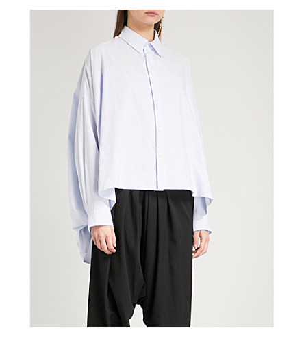 YS Oversized cotton shirt dress (Blue