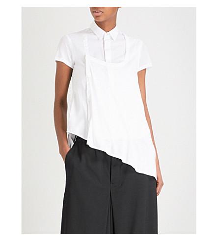 细棉布衬衫 (白色