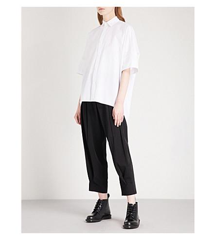 y 超大号棉质衬衫 (白色