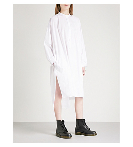 YS Cotton shirt dress (White