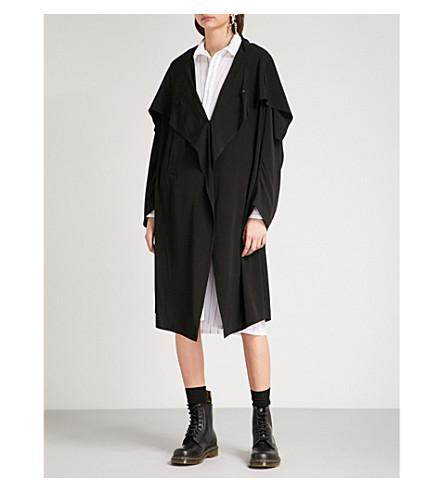YS Draped-panel crepe jacket (Black