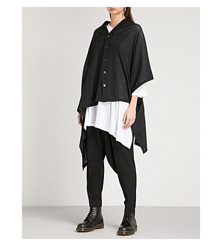 YS Stepped-hem cotton jacket (Black