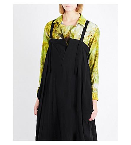 YS Grained-print wool shirt (Yellow