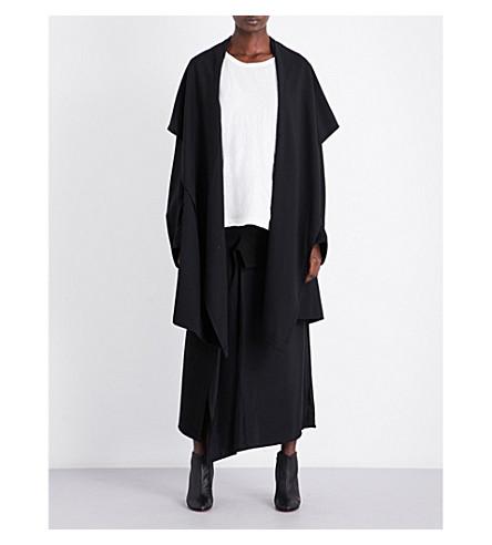 YS Oversized wool coat (Black