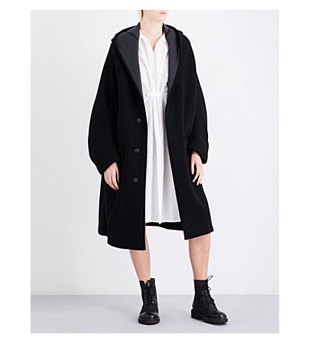 YS Oversized jersey coat (Dark+grey