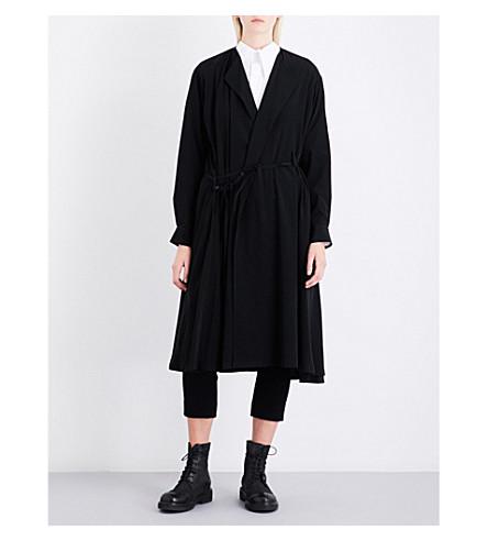 YS Notch-lapel woven dress (Black