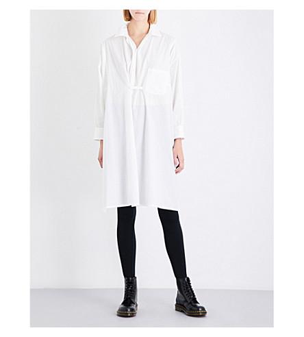 YS Oversized cotton shirt dress (White