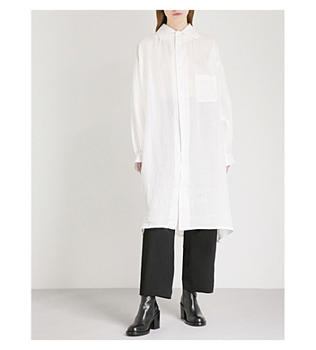 YS Loose-fit woven shirt dress (Off+white