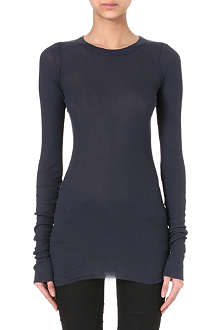 RICK OWENS Ribbed long-sleeved top