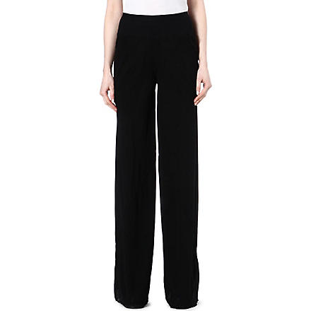 RICK OWENS Silk trousers (Black