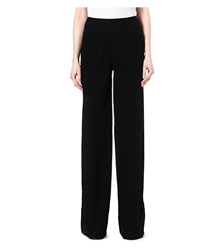 RICK OWENS Silk trousers (Black