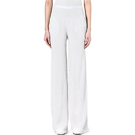 RICK OWENS Silk trousers (Pearl