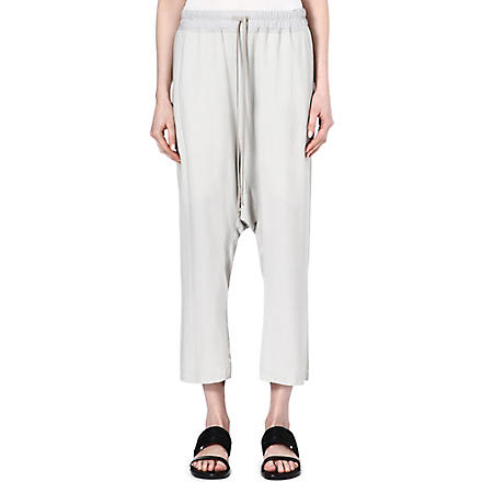 RICK OWENS Crepe trousers (Pearl