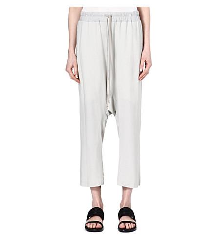 RICK OWENS Crepe trousers (Pearl