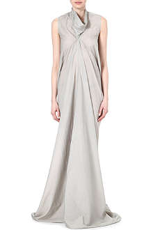 RICK OWENS Gathered silk-blend gown
