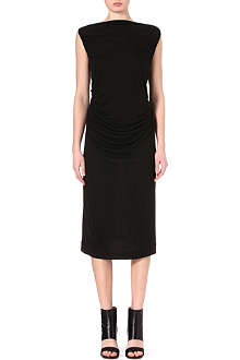RICK OWENS Smock-back jersey dress
