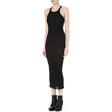 RICK OWENS Ribbed tank dress (Black