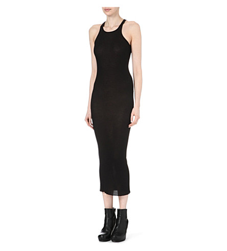 RICK OWENS Ribbed tank dress (Black
