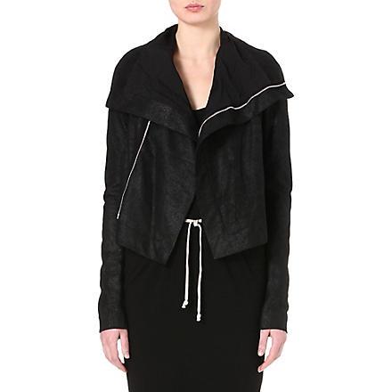 RICK OWENS Classic blister biker jacket (Black