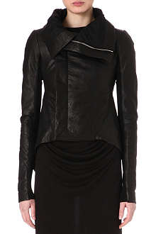 RICK OWENS Tail-back leather biker jacket