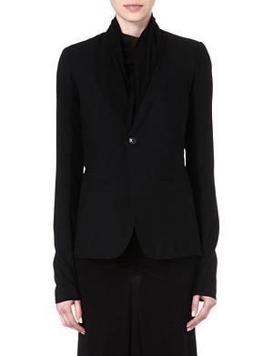 RICK OWENS Shawl-collar wool blazer