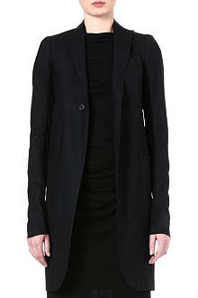 RICK OWENS Wool and silk-blend blazer coat