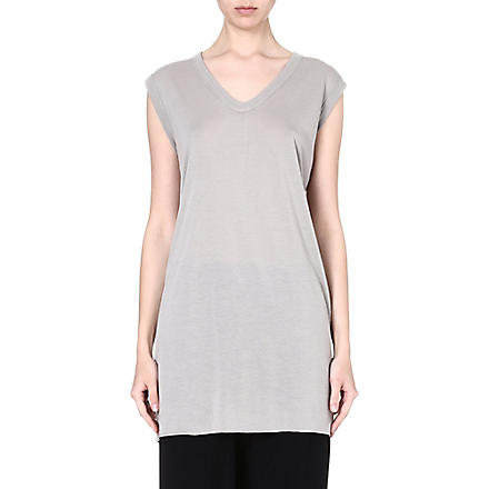 RICK OWENS Sleeveless jersey top (Pearl