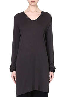 RICK OWENS Scoop-neck jersey top