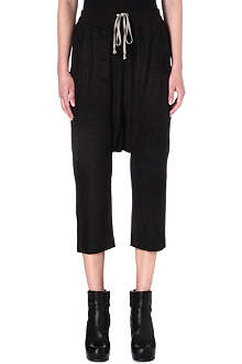 RICK OWENS Dropped-crotch leather trousers