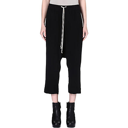 RICK OWENS Drop-crotch trousers (Black